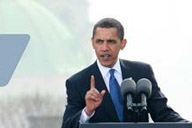 Barack Obama in Praag